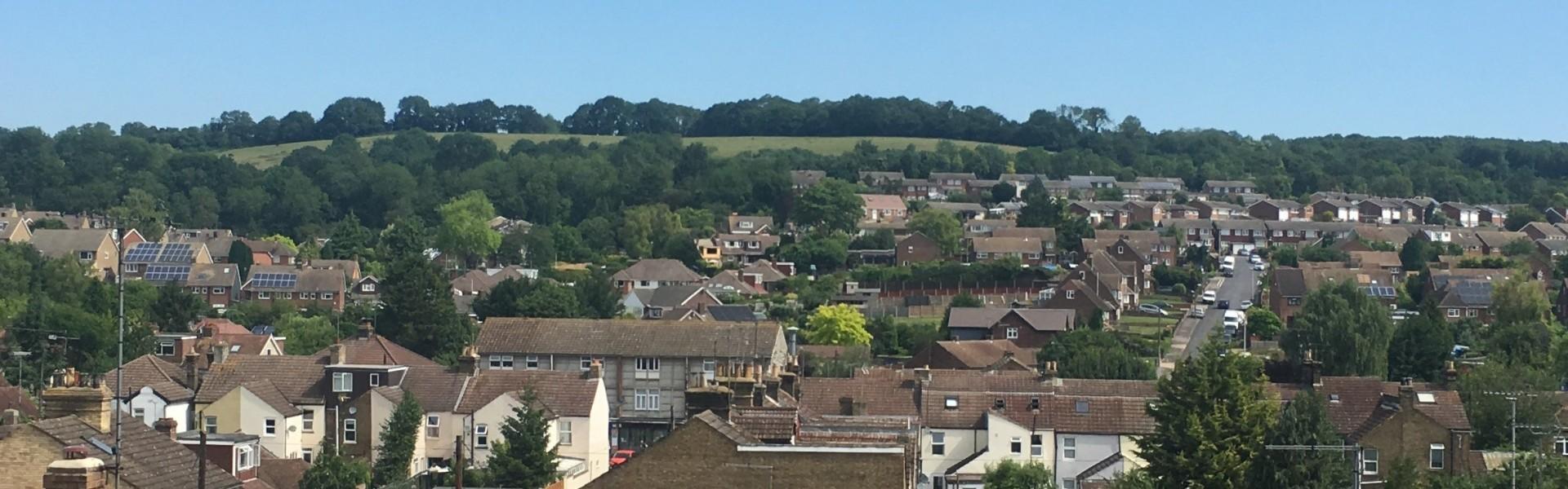 Landscape view of Cuxton