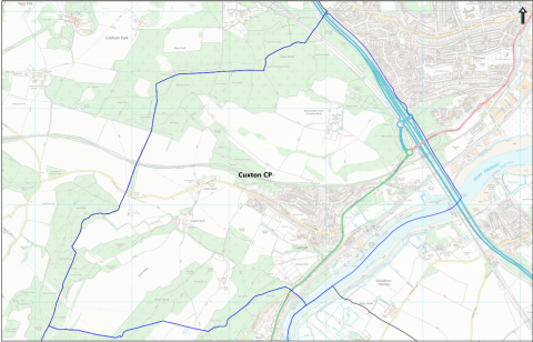 Map of Cuxton