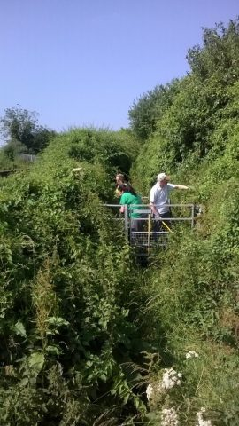 Cuxton Countryside Group clearing a gateway
