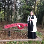 Rev. Roger Knight with the wreath