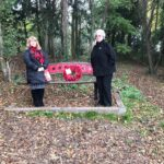 The Chair and Vice-Chair of CPC with the wreath